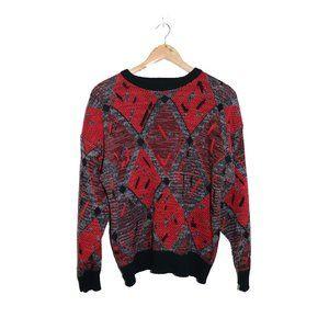 Red Knit Grampa Sweatshirt